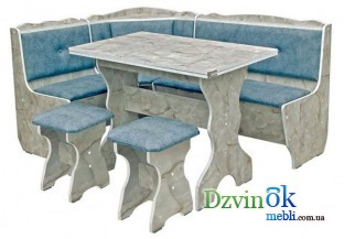 Кухонный уголок Президент + стол розкладной + 2 табуретки